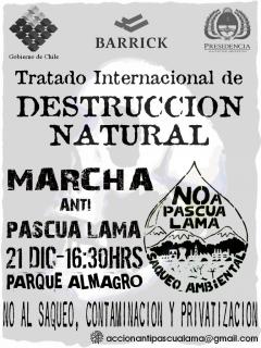 Marcha Anti-PascuaLama, 21 décembre 2006