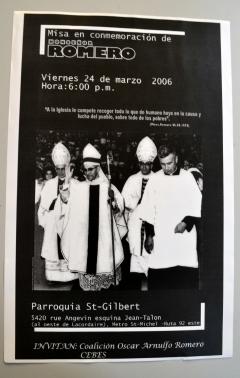 Misa en Conmemoración de Monseñor Romero, 24 mars 2006