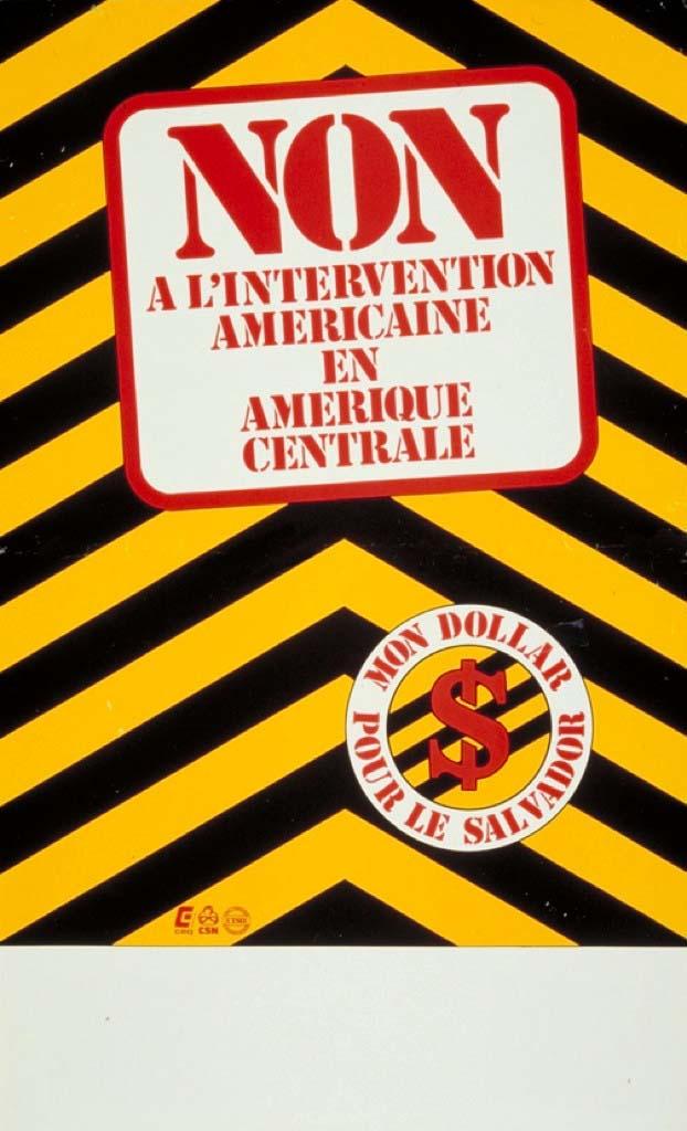 Non à l'intervention américaine en Amérique centrale