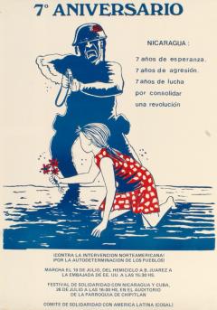 Séptimo Aniversario de la revolución sandinista, 1986