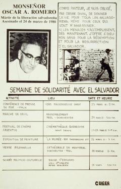 Semaine de solidarité avec El Salvador, 1981