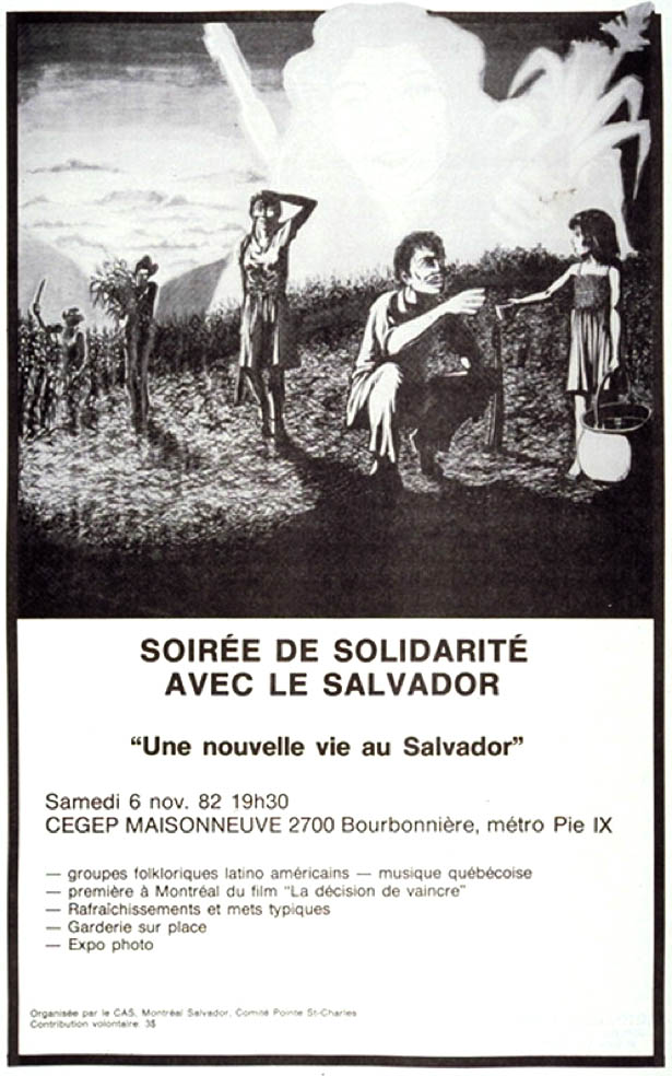Soirée de solidarité avec le Salvador, 6 novembre 1982