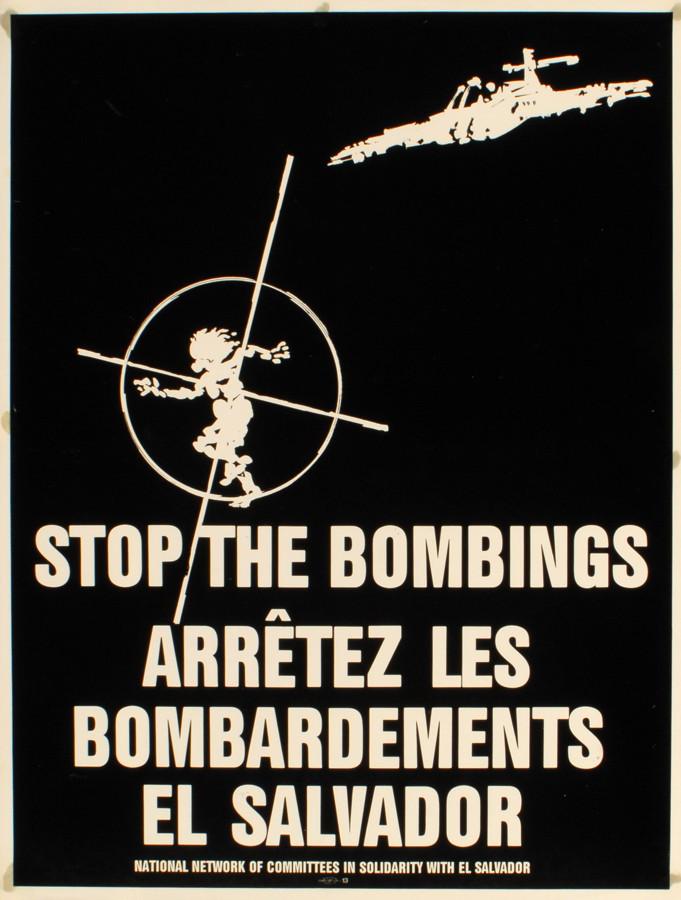 Stop the bombings. El Salvador, 1980