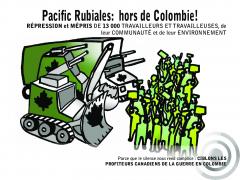 carte postal PASC Pacific Rubiales hors de Colombia