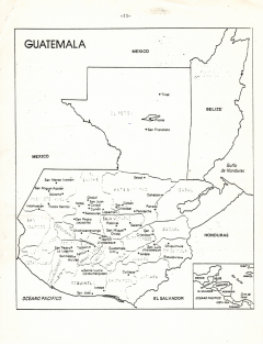 Carte Guatemala et autres pays