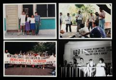 Décimo Encuentro internacional cristiano de solidaridad con América latina Romero et manifestation pour Monseñor Samuel Ruiz