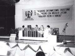 Décimo encuentro internacional cristiano de solidaridad con América latina Romero, San Salvador