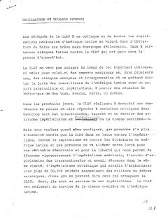 Déclaration de Eduardo Estevez, 21 mars 1980