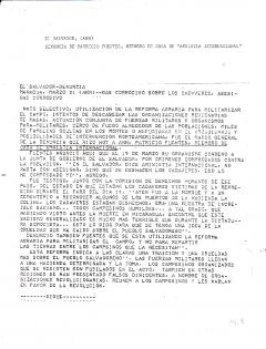 Denuncia de Patricio Fuentes, 21 mars 1980