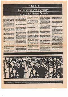 En 126 ans, les États-Unis sont intervenus 40 fois en Amérique centrale. Solidarité, vol.5, no.3, 1981