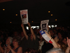 Groupe non a Pascua lama, Michelle Bachelet, à l'UdeM, 2009