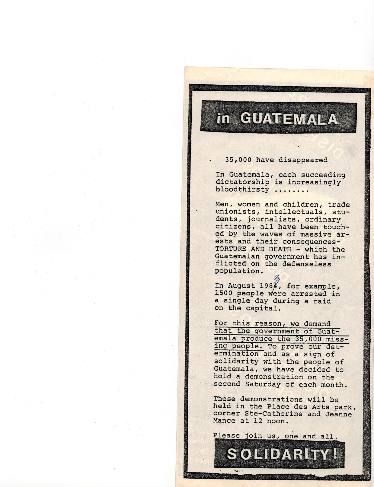 Guatémaltèques disparus