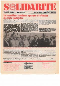 L'Amérique centrale à l'heure du peuple. Solidarité, vol.3, no.4 mai-juin 1979