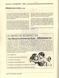 La marche Romero 92. Caminando, vol.12, no.4, p.10, mars 1992
