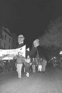 La paix en Amérique centrale, oui! Marche-célébration Romero 24 mars 1988 (2)