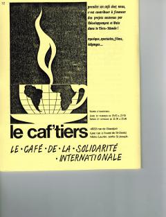 Le Caf'tiers et Nouvelles sur les luttes en Amérique latine à la radio. Caminando, vol.7, no.2, pp.12-13 et 27