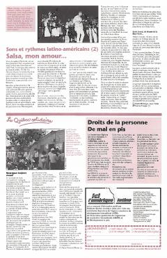 Le Québec solidaire. Ici l'Amérique latine, 1990