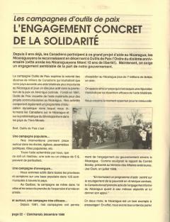L'engagement concret de la solidarité. Caminando, vol.10, no.4, pp.22-23, décembre 1989