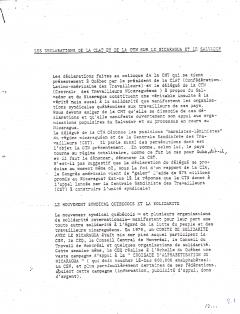 Les déclarations de la CLAT et de la CTN sur le Nicaragua et le Salvador, 19 mars 1980