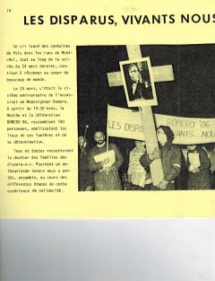 Les disparus, vivants nous les voulons! Caminando, vol.7, no.2, pp.14-17, 24 mars 1986