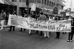 Manifestation contre l'intervention américaine en Amérique centrale, 31 mars 1988 (6)