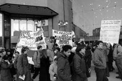 Manifestation contre l'intervention américaine en Amérique centrale, 31 mars 1988