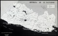 Mapa de la Republica de El Salvador