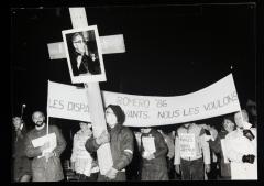 Les disparus, vivants nous les voulons! Marche-célébration Romero 24 mars 1986