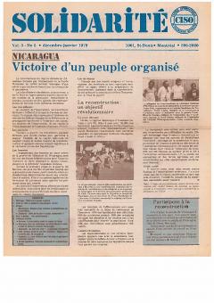 Nicaragua. Victoire d'un peuple organisé. Solidarité, vol.3, no.5, déc.-janv.1979_CISO
