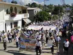 Manifestation contre le barrage Paso de la reina, 14 mars 2011