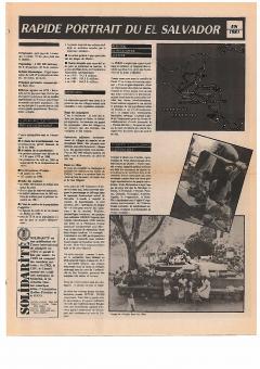 Rapide portrait du El Salvador en 1981