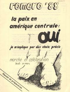Romero 88. Supplément à Caminando, vol.9, no.1, mars 1988