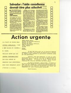 Salvador, l'aide canadienne devrait être plus sélective. Caminando, vol.7, no.1, p.9