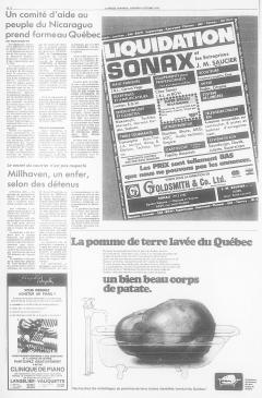 Un comité d'aide au peuple du Nicaragua prend forme au Québec. LaPresse, 4 octobre 1978