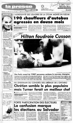 Éléctions au Salvador, La Presse, 26 mars 1984, p. A1-A2