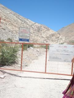 Entré de la mine de Barrick Gold à Pascua Lama, 2, 5 décembre 2006