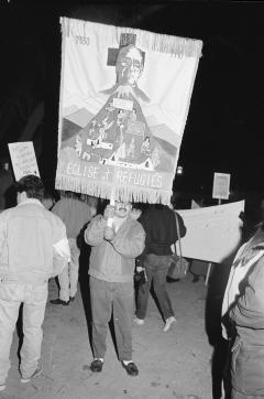 Marche-célébration Romero 24 mars 1990, Montréal (89)