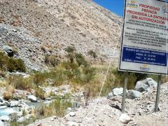 Pascua Lama, proche de la barrière, 5 décembre 2006