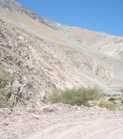 chemin jusqu'à la mine de Barrick Gold à Pascua Lama, 5 décembre 2006