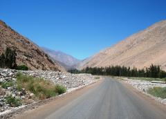 route jusqu'à la mine de Barrick Gold à Pascua Lama, 5 décembre 2006