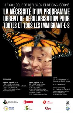 Colloque pour un programme de régularisation des immigrant.e.s