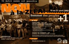 Forum Sommet des Peuples, avril 2002