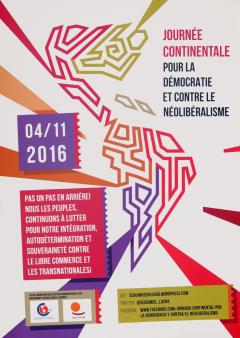 Journée continentale pour la démocratie et contre le néolibéralisme, 4 novembre 2016