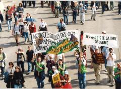Les ami.e.s de la terre, Marche des peuples, 21 avril 2001