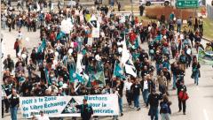 Marche des peuples, Québec, 21 avril 2001