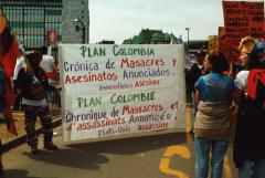 Plan Colombie, Marche des peuples, 21 avril 2001