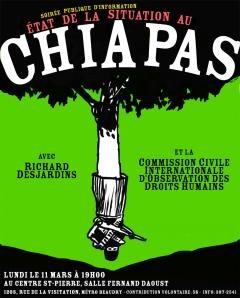 Soirée d'information sur la situation au Chiapas, CCIODH, 11 mars 2002